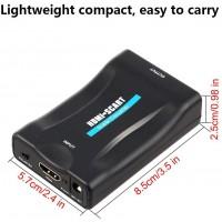 Convertisseur HDMI vers péritel, adaptateur 1080P HDMI vers péritel Vidéo composite Adaptateur audio stéréo HD Entrée HDMI Adapt