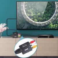 Adaptateur RCA vers HDMI Convertisseur, AV 3RCA vers HDMI Vidéo Audio Convertisseurs, Convertisseur vidéo Mini AV vers HDMI pour