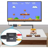 RCA vers HDMI Adaptateur, 1080P AV vers HDMI Vidéo Audio Convertisseurs, Mini RCA Composite CVBS AV à HDMI Converter, Support PA