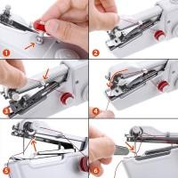 Mini Machine à Coudre Portable,DIY Outil de Point,Kit de Main Couture Portative pour Vêtement (15 pièces)