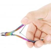 Outil de manucure cuticule Pusher réparation outil de manucure cornée peau morte, nettoyage corne à ongles professionnel - Acier