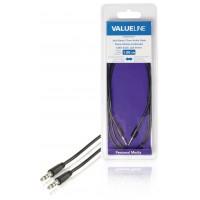 Câble audio à fiche jack stéréo 3,5 mm mâle vers 3,5 mm mâle noir 1,00 m