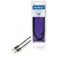 Câble audio à fiche jack stéréo 3,5 mm mâle vers 3,5 mm mâle noir 2,00 m
