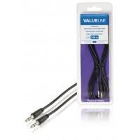 Câble audio à fiche jack stéréo 3,5 mm mâle vers 3,5 mm mâle noir 3,00 m