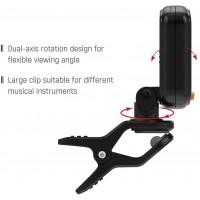 Accessoires pour guitare Basse Ukulele Guitare Accessoires AT-101 Guitar Tuner numérique 360 Rotating LCD haute sensibilité Tuni
