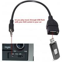 Connecteur Audio AUX AUX 35 mm AU USB Type A Adaptateur de convertisseur de Voiture Femelle Câble Câble Connecteur de câble