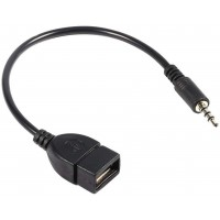 Stéréo de Voiture Mâle 3,5 mm Musique Audio AUX Prise de Disque U Vers USB Convertisseur de Cordon Femelle Câble de Synchronisat