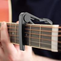 Lot de 2 capodastres universels pour guitare électrique Noir argenté