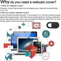 6pcs Cache Webcam Autocollant Coulissant Couverture de Caméra Frontale Ultrafin Protège Votre Vie Privée Universel pour Smartpho