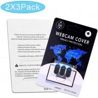 Cache Webcam, Webcam Cover [6-Pack] Cache Camera Ordinateur Portable 0.6mm-Ultra Fin pour Macbook Pro, iPad Pro, Smartphones, Ta