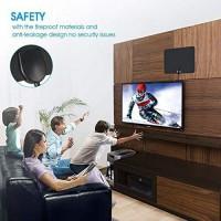Amplificateur Antenne TV numérique HD Longue portée 65-80 Miles Amplificateur de Signal intérieur 4K 1080dp