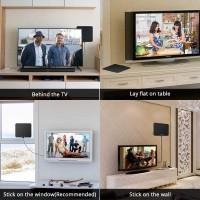 Antenne TV HD,antenne TV intérieur puissante,TV Ante Antenne TV DVB-T 80 Miles Antenne intérieure HDTV numérique avec amplificat