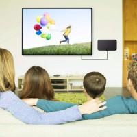 Antenne TV numérique 50 Miles Range Amplifier Signal F-TV Compatible HDTV Indoor 4K DVB-T2 ATSC Antenna