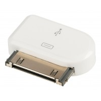 Adaptateur dock 30 broches connecteur dock 30 broches mâle - Micro USB B femelle blanc