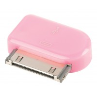 Adaptateur dock 30 broches connecteur dock 30 broches mâle - Micro USB B femelle rose