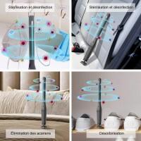 Lampe de Désinfection UV, Stérilisateur USB Portable 254nm UVC+Ozone, Stérilisation Efficace à 99,99%. Minuterie 30Min, Désinfec