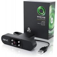 Webcam Full HD 1080p avec Microphone - 2k 1920x1080P - 4 lumières auxiliaires/éclairage LED de scène - Objectif 5P - PC Laptop M