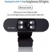 Webcam d'ordinateur 1080p avec microphone Full HD Webcam USB Webcam Streaming Webcam pour appels vidéo, MSN Skype, ordinateur de