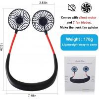 Ventilateur Portable, Mini Ventilateur de cou USB avec Batterie, rechargeable Ventilateur USB avec LED, Refroidisseur D'air à Do