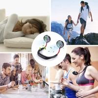 Ventilateur Portable, Mini USB Ventilateur Nuque Rechargeable, Ventilateur D'encolure Main Libre 3 Vitesses, Rotation à 360 ave