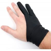Lot de 2X Gants Antifriction Noirs pour Tablette Graphique - modèle à Deux Doigts en Lycra résistant - Taille Unique