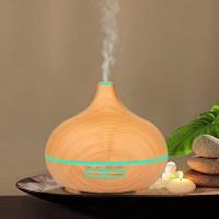 Diffuseur huiles essentielles Aromathérapie à ultrasons brouillard humidificateur tranquille froide 7Couleur Changeantes LED Moo