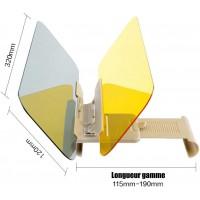 Miroir Visière Anti-Éblouissement Pare-Brise Anti-Reflet Lunettes de Vision Nocturne Voiture Convertible Protection Extension Co