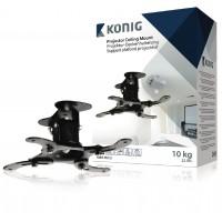Support noir de plafond pour projecteur 10 kg / 22 lbs