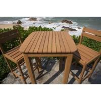 Ensemble repas de jardin type bar 2 personnnes - table 70x70cm et 2 chaises - En Acacia FSC