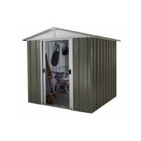 YARDMASTER Abri de jardin métal 2,77 m² - Taupe et alu