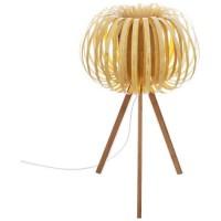 Lampe trépied - E14 - 40 W - H. 55 cm - Sable