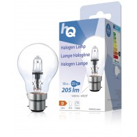 Lampe halogène GLS classique B22 18W 205lm 2800K