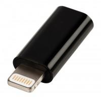 Adaptateur USB éclair mâle - Micro USB B femelle noir