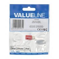 Adaptateur USB éclair mâle - Micro USB B femelle rouge