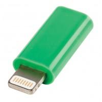 Adaptateur USB Lightning mâle - Micro USB B verte femelle