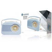 Radio AM/FM design rétro bleu