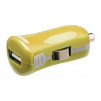 Chargeur USB A femelle pour USB pour voiture – connecteur jaune 12 V pour voiture