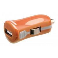 Chargeur USB A femelle pour USB pour voiture – connecteur orange 12 V pour voiture