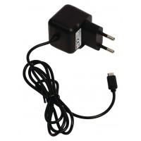 Chargeur micro USB mâle pour micro USB CA – connecteur CA noir 1,00 m pour maison 2.1A