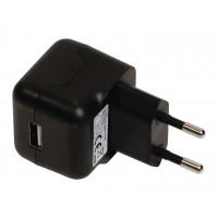 Chargeur USB A femelle pour USB CA – connecteur CA noir pour maison