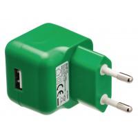 Chargeur USB A femelle pour USB CA – connecteur CA vert pour maison
