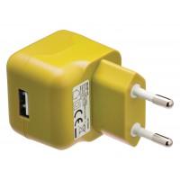 Chargeur USB A femelle pour USB CA – connecteur CA jaune pour maison