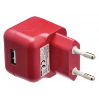 Chargeur USB A femelle pour USB CA – connecteur CA rouge pour maison