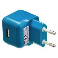 Chargeur USB A femelle pour USB CA – connecteur CA bleu pour maison