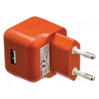 Chargeur USB A femelle pour USB CA – connecteur CA orange pour maison