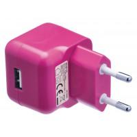 Chargeur USB A femelle pour USB CA – connecteur CA rose pour maison