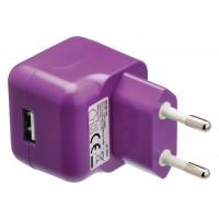Chargeur USB A femelle pour USB CA – connecteur CA violet pour maison