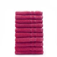 TODAY Lot de 10 Serviettes de toilette Jus de myrtille - 100% Coton - 50 x 100 cm