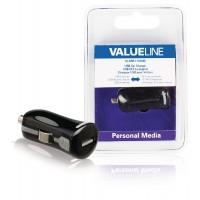 Chargeur USB A femelle pour USB pour voiture – connecteur noir 12 V pour voiture 2.1A