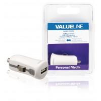 Chargeur USB A femelle pour USB pour voiture – connecteur blanc 12 V pour voiture 2.1A